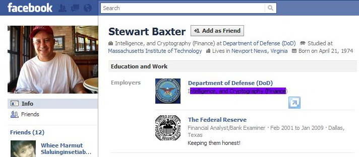 Stewart Baxter of Department of Defense and Federal Reserve Bank of Dallas